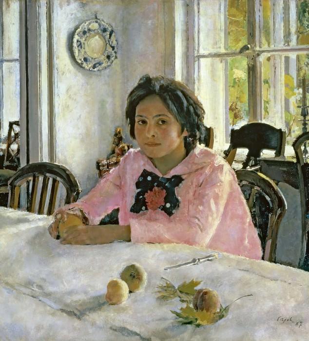 Girl with Peaches (Portrait of S. Mamontov).. Valentin Serov
