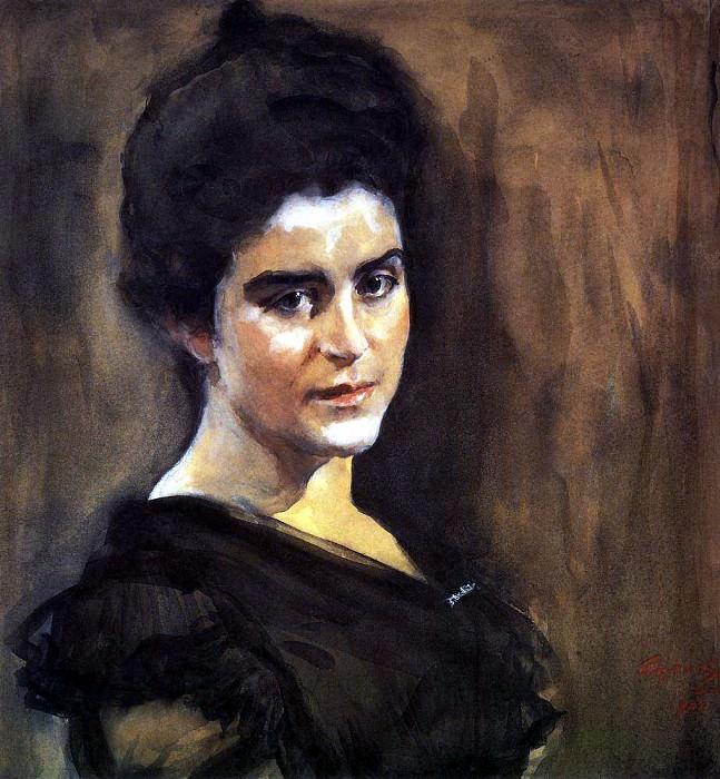 Portrait of Sophia - Lukomskaya. 1900. Valentin Serov