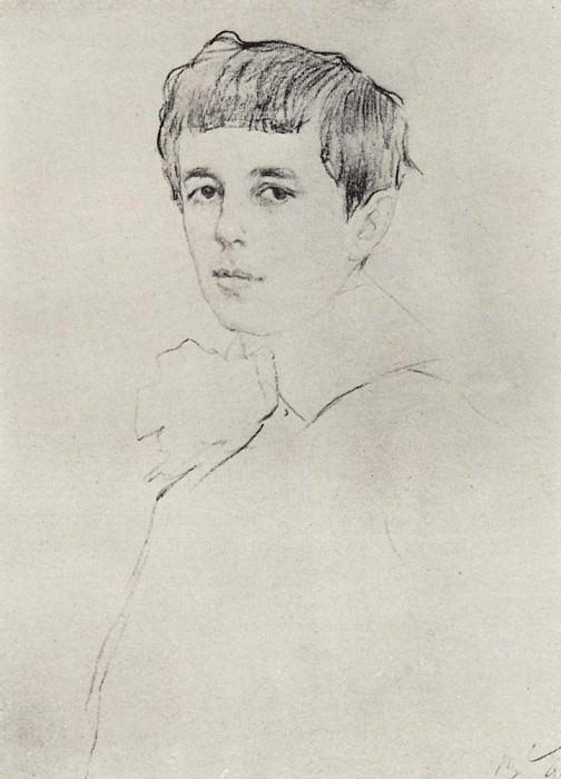 Portrait Yuri Morozov. 1905. Valentin Serov