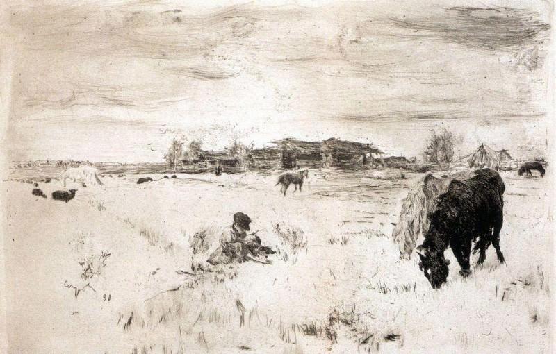 October. 1898. Valentin Serov