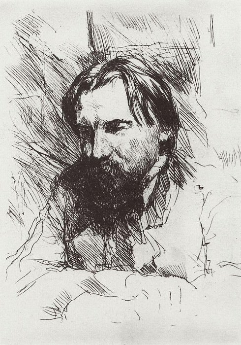 Portrait of the artist-engraver VV Mate. 1898-1899. Valentin Serov