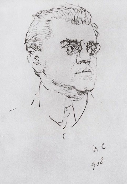 Portrait Artist I.M. Moskvin. 1908. Valentin Serov