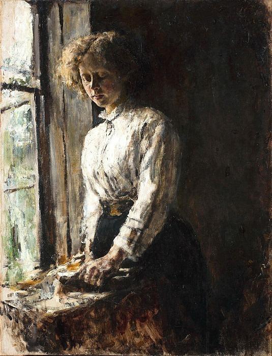 Near the window. Portrait of O.F. Trubnikova. Valentin Serov