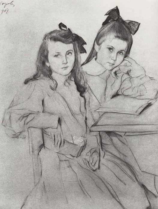 Girls, NA, TA Kasyanov. 1907. Valentin Serov