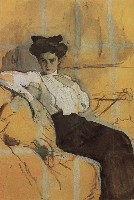 Портрет Г. Л. Гиршман. 1906. Валентин Александрович Серов