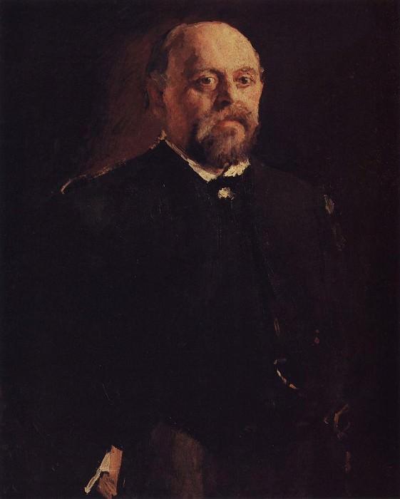 Portrait of S. Mamontov. 1887. Valentin Serov