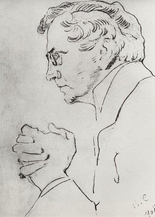 Портрет артиста В. И. Качалова. 1908. Валентин Александрович Серов