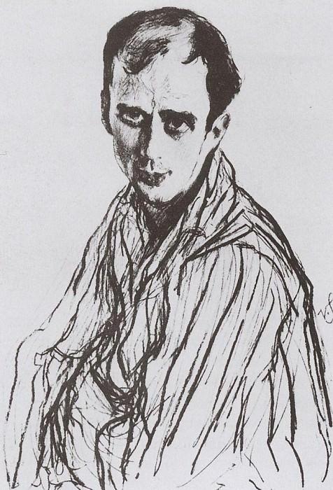 Portrait of Fokine. 1909. Valentin Serov