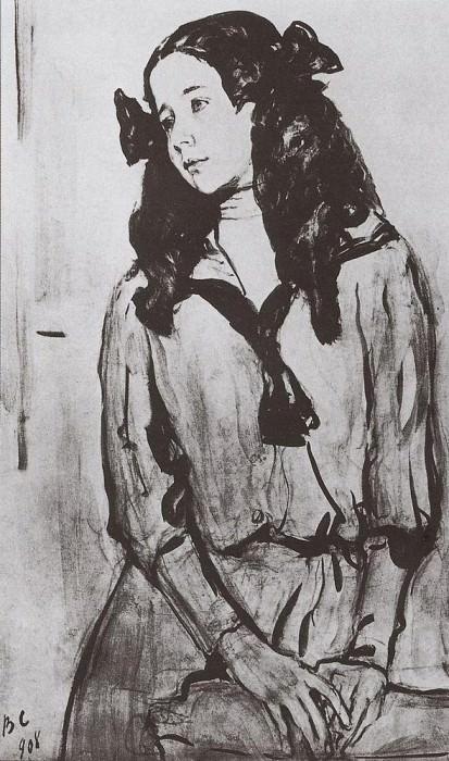 Портрет Н. З. Раппопорт. 1908. Валентин Александрович Серов