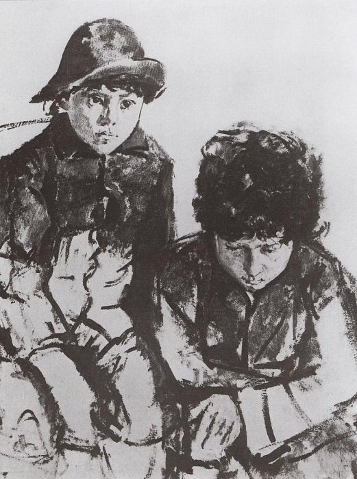 Kids Serov. Yuri and Sasha. 1902-1904. Valentin Serov