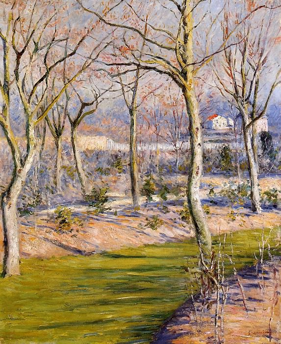 The Garden at Petit Gennevilliers in Winter - 1894. Gustave Caillebotte