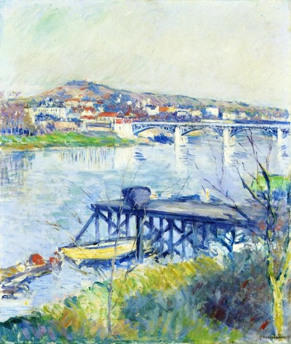 The Bridge at Argenteuil - 1893. Gustave Caillebotte