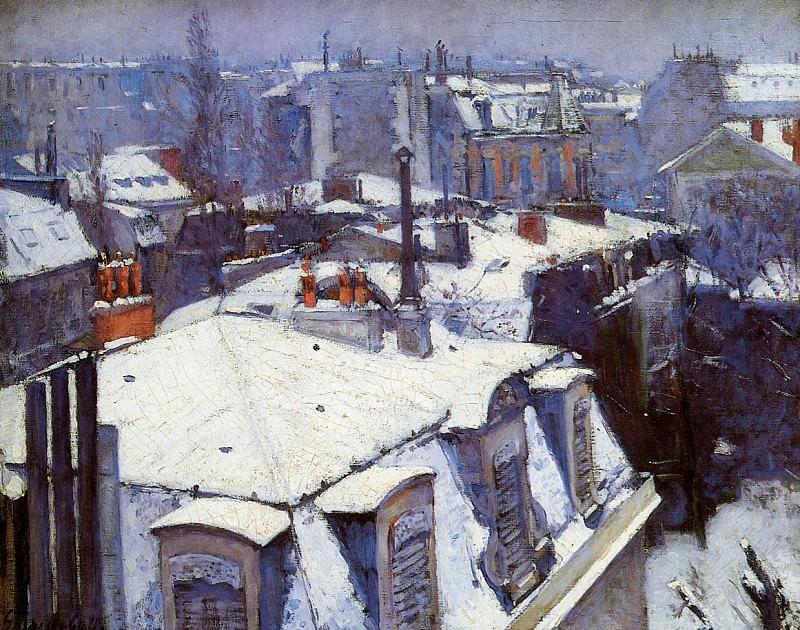Снег на крышах Парижа. Гюстав Кайботт