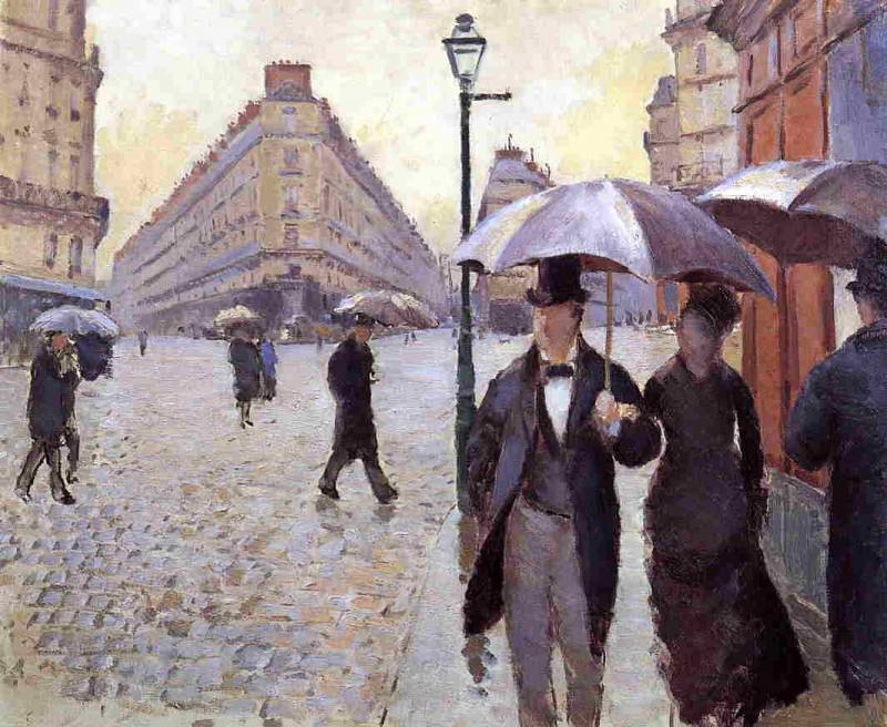 Paris Street. - A Rainy Day (study) - 1877. Gustave Caillebotte