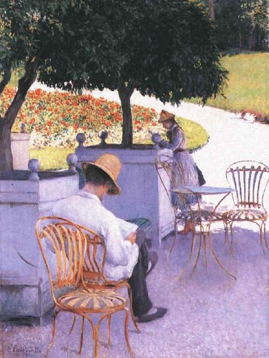The Orange Trees - 1878. Gustave Caillebotte
