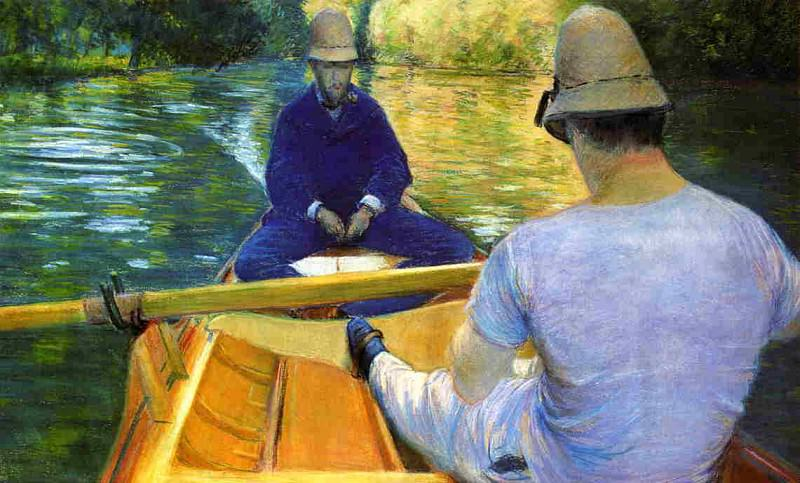 Boaters on the Yerres - 1877. Gustave Caillebotte
