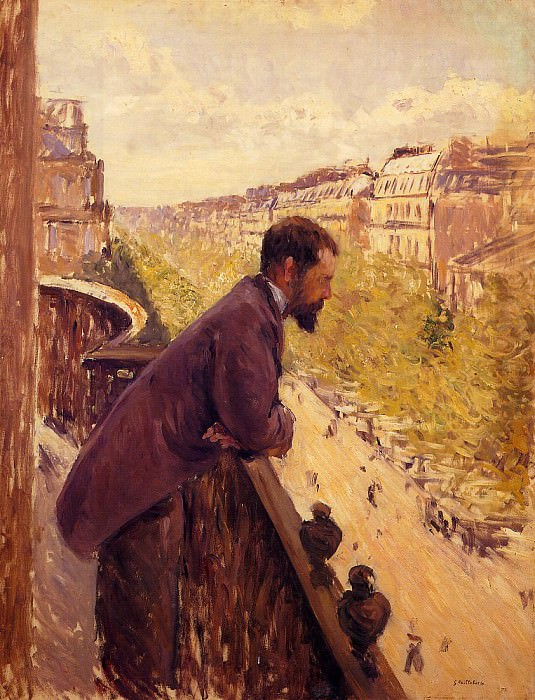 The Man on the Balcony. Gustave Caillebotte