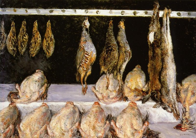 Display of Chickens and Game Birds - 1882. Gustave Caillebotte