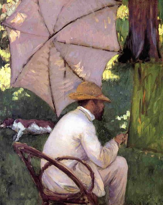 The Painter under His Parasol - 1878. Gustave Caillebotte