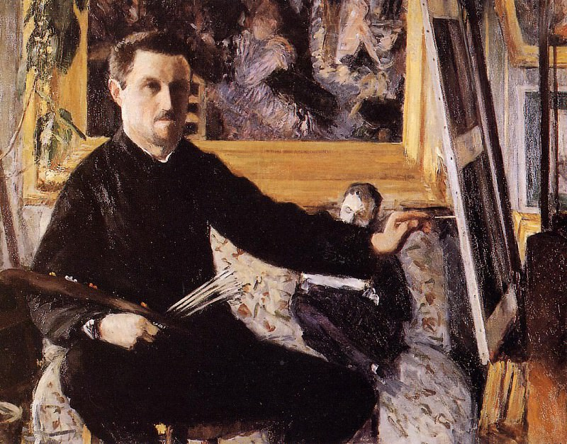 Self Portrait with Easel. Gustave Caillebotte