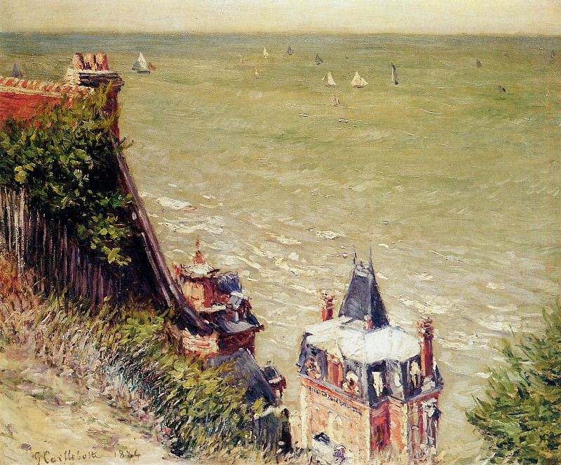 The pink villa at Trouville. Gustave Caillebotte