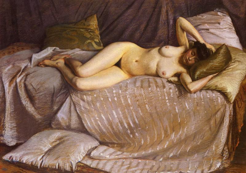 Femme Nue Etendue Sur Un Divan. Gustave Caillebotte