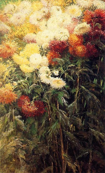 Chrysanthemums, Garden at Petit Gennevilliers - 1893. Gustave Caillebotte
