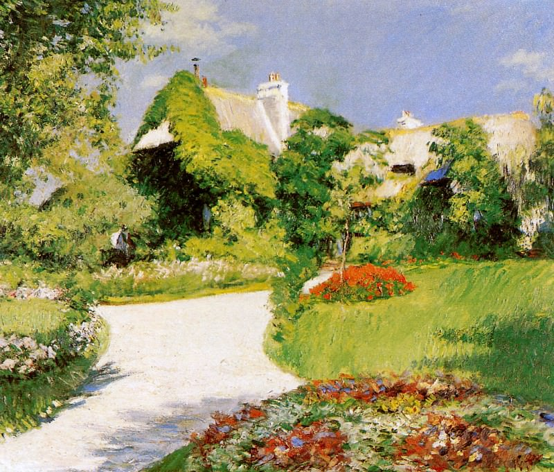 Farmers house in Trouville. Gustave Caillebotte