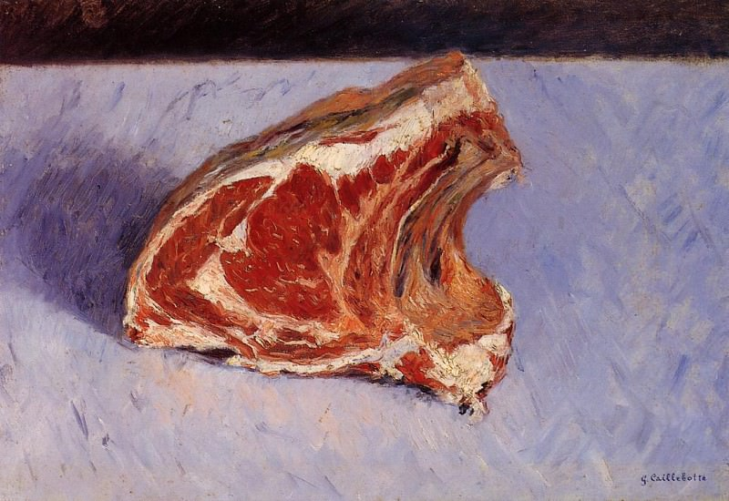 Rib of Beef - 1882. Gustave Caillebotte