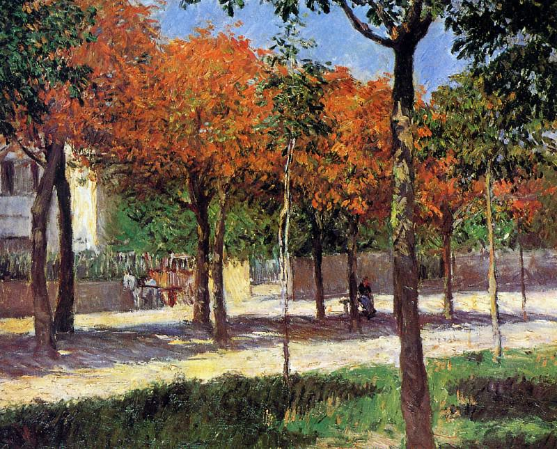 Square in Argenteuil. Gustave Caillebotte