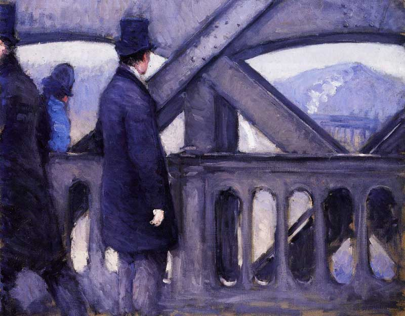 The Pont de Europe (study) (also known as Port del Europe). Gustave Caillebotte
