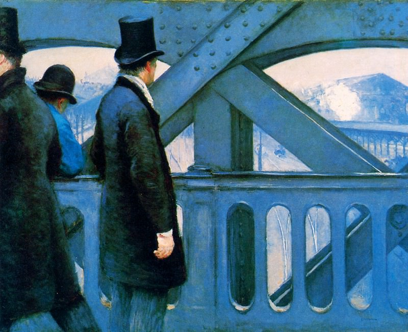 The Europa bridge. Gustave Caillebotte