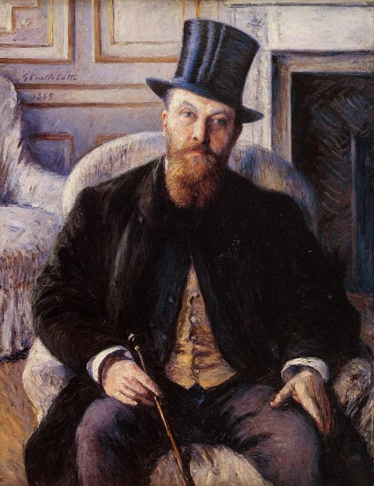 Portrait of Jules Dubois. Gustave Caillebotte
