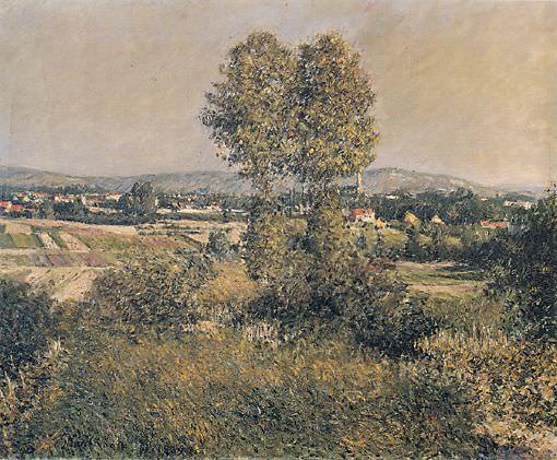 Landscape at Argenteuil - 1889. Gustave Caillebotte