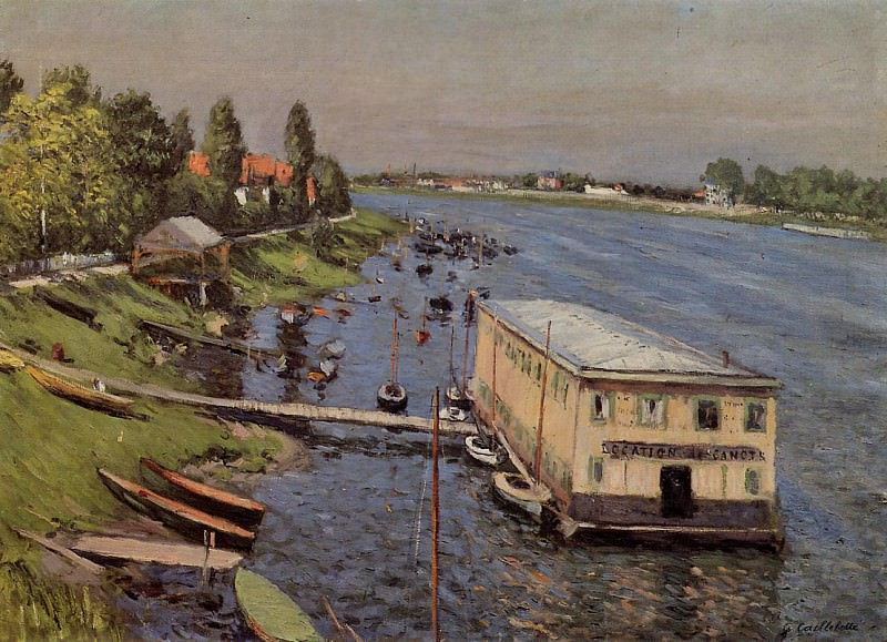 Boathouse in Argenteuil - 1886-1887. Gustave Caillebotte