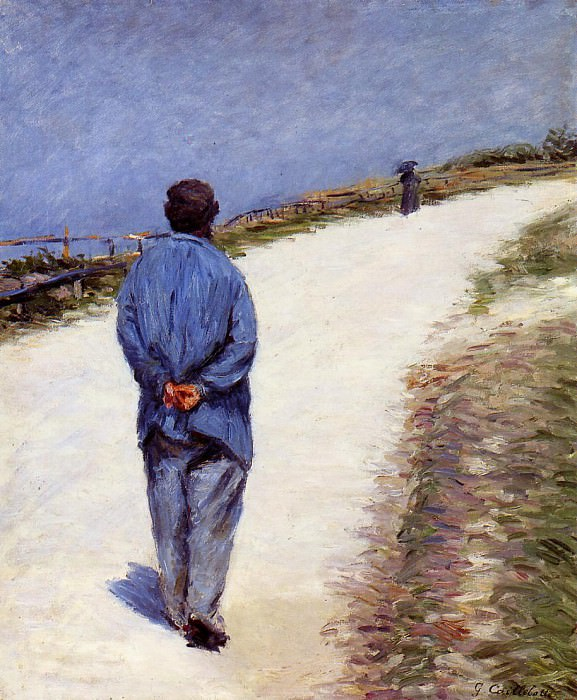 Man in a Smock (also known as Father Magloire on the Road between Saint-Clair and Etretat) - 1884. Gustave Caillebotte