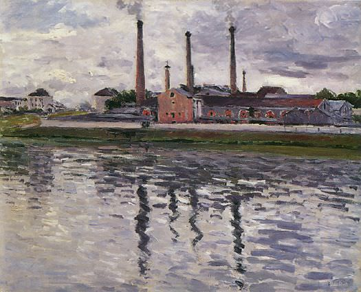 Factories at Argenteuil - 1888. Gustave Caillebotte