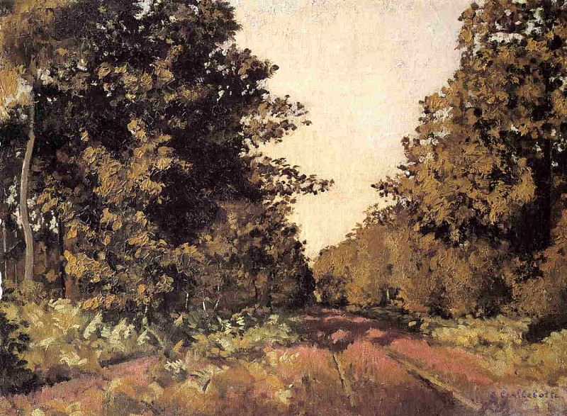 Yerres, Woods at la Grange, Path of the Great Ha-Ha. Gustave Caillebotte