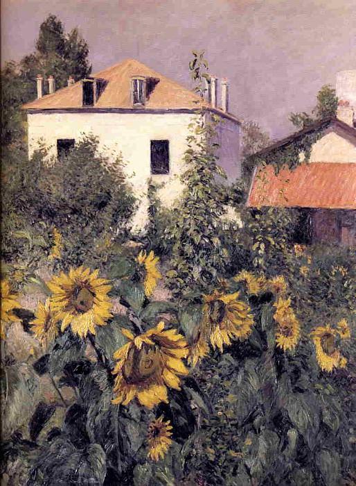Sunflowers, Garden at Petit Gennevilliers - 1885. Gustave Caillebotte