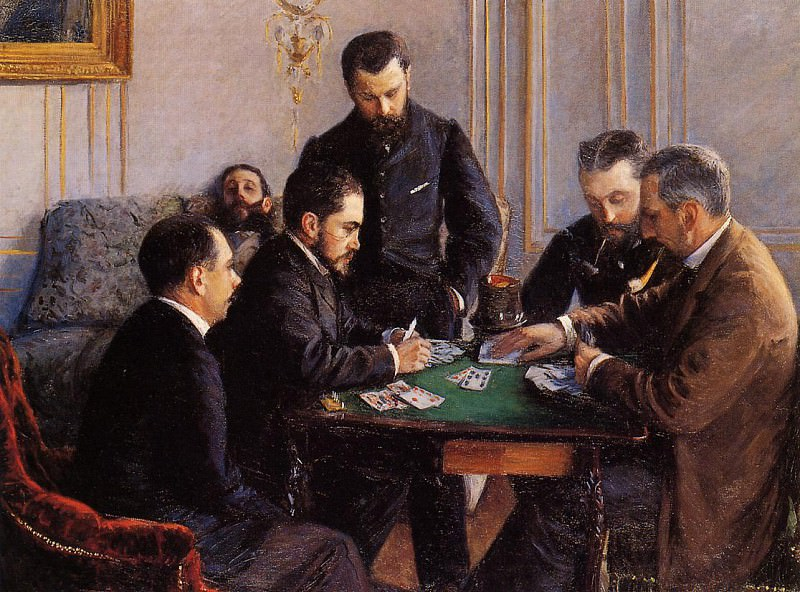 Game of Bezique - 1880. Gustave Caillebotte