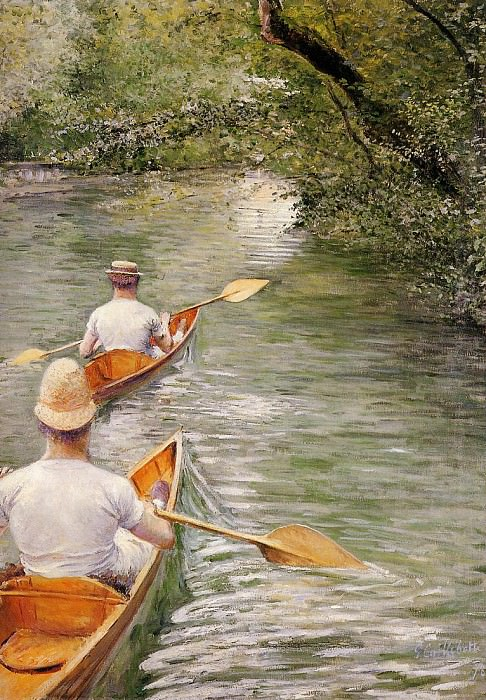 Perissoires (also known as The Canoes) - 1878. Gustave Caillebotte