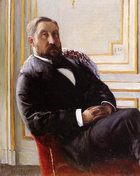 Portrait of Jules Richemont. Gustave Caillebotte