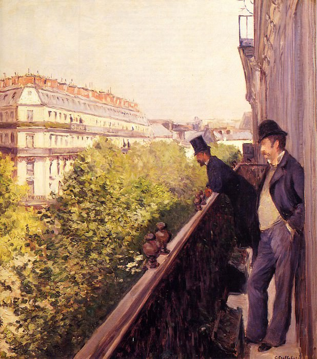 A Balcony - 1880 - Private collection. Гюстав Кайботт