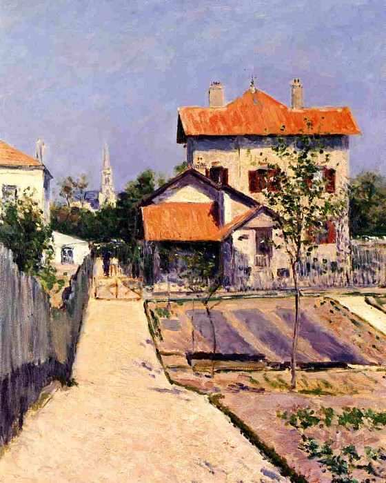 The Artists House at Petit Gennevilliers - 1882. Gustave Caillebotte