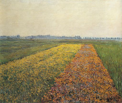 The Yellow Fields at Gennevilliers. Gustave Caillebotte