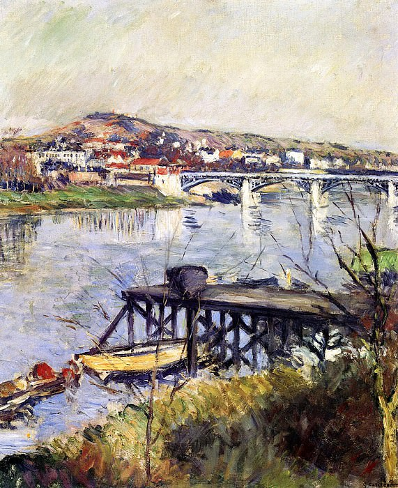 The Argenteuil Bridge - 1893. Gustave Caillebotte