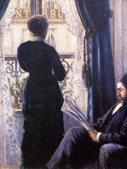 Interior (also known as View across the Balcony) - 1880. Gustave Caillebotte