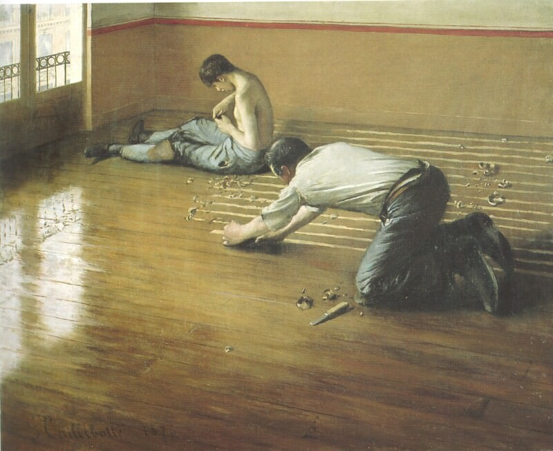 The Floor Scrapers - 1876. Gustave Caillebotte