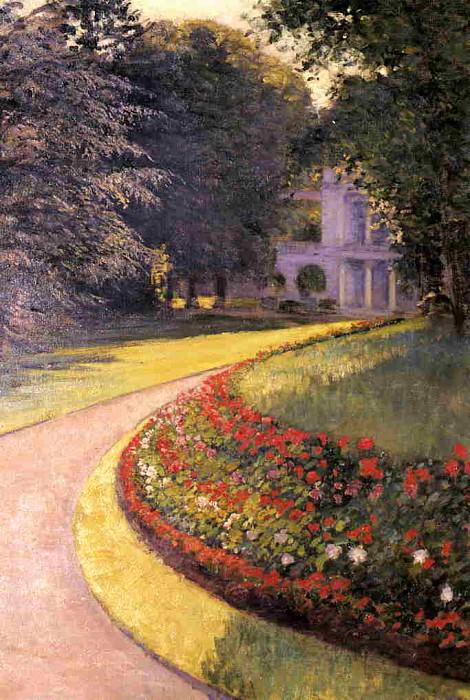 The Park at Yerres - 1877. Gustave Caillebotte