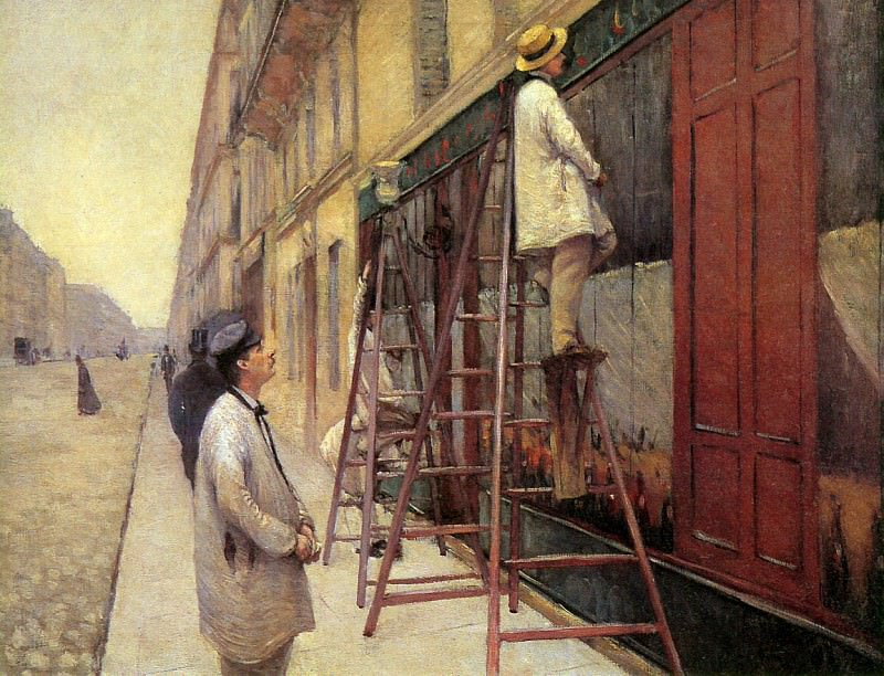 The sign painters. Gustave Caillebotte